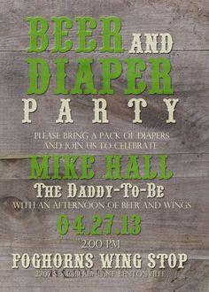 Daddy Baby Shower Printable Invitation
