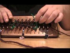 ▶ bufanda zigzag en telar maya 30cm - YouTube