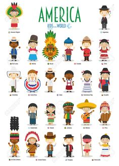Find Kids Nationalities World Vector America Set stock images in HD and millions of other royalty-free stock photos, illustrations and vectors in the Shutterstock collection. Thousands of new, high-quality pictures added every day. Latin American Studies, Costumes Around The World, Funny Photoshop, Hispanic Heritage, People Illustration, Free Vector Graphics, World Cultures, St Kitts And Nevis, Royalty Free Stock Photos