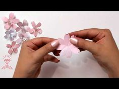 How to make paper cherry blossom flower. How To Make Paper Flowers, Paper Flowers Diy, Flower Crafts, Fabric Flowers, Origami Flowers, Cherry Blossom Origami, Cherry Blossom Wedding, Chinese Blossom, Cherry Blossom Flowers