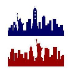 New York City Skyline Cuttable Design New York Skyline Silhouette, Minecraft Banner Designs, Ny Skyline, New York Theme, New York City Ny, City Sky, Silhouette Projects, Silhouette Cameo, City Landscape