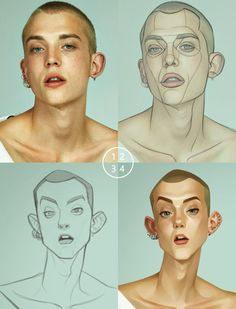 What a great way to break down the 'seeing' process! This is how you to explain . - How to Draw - Caricature Digital Painting Tutorials, Digital Art Tutorial, Art Tutorials, Digital Paintings, Drawing Tutorials, Drawing Tips, Drawing Process, Drawing Ideas, Drawing Cartoon Characters