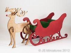 Santa Sleigh Cardboard Boxes Box And Xmas