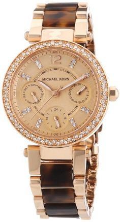 MICHAEL KORS Mini Parker Womens Quartz Watch with Rose gold Dial and Rose gold…