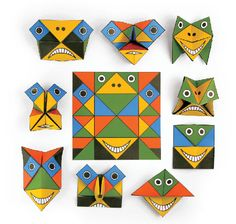 Origami Funny Faces