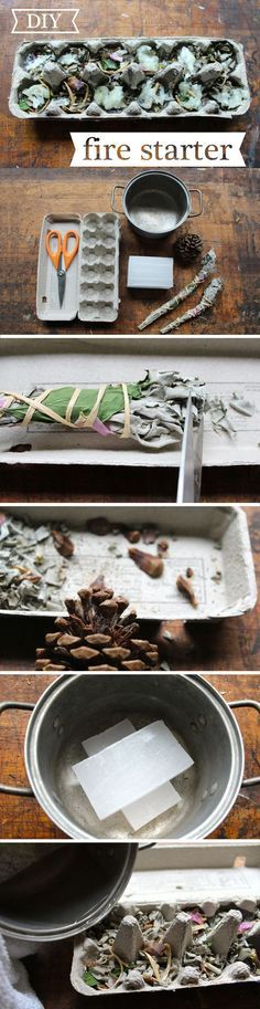 You can create fire starter kits, different kinds depending on your needs, for when you go camping. For example, sage not only burns really hot and cleanses the vibes of the space, it also keeps pesky mosquitoes away! www.ehow.com/...