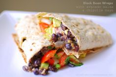 Happy+Wednesday!+If+you're+looking+for+a+healthy+and+super+flavorful+dish?+Well,+you+need+to+try+my+favorite+dish.    Black+Bean+Wraps+with+Avocado+Salsa  These+wraps+will+make+your+tongue+happy.+trust+me.+They+are+seriously+so+good!+These+Black+Bean