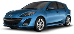 Mazda 3 hatch back- a car that looks like its smiling makes me smile