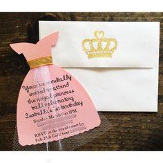 Princess dress invitation Aurora invitation Sleeping by FalcoClan