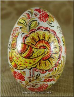 Petrykivka Pysanka Ukrainian Real Goose Egg [rp2843] - $50.00 : Vyshyvanka Ukrainian Gifts