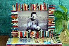 Marco de fotos hecha con hojas de revistas!!