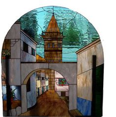 Vidriera realizada con la técnica Tiffany. Ponte en contacto con la artesana en: https://www.facebook.com/opalo.tallervidriero?fref=ts