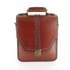 %100 Genuine Leather Handcrafted Brown Brief Document Bags