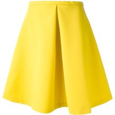 ANTONIO MARRAS flared skirt ($619) ❤ liked on Polyvore featuring skirts, bottoms, saias, faldas, high rise skirts, flare skirt, skater skirt, high waisted skirts and yellow skirt