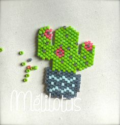 BS cactus Cactus, Loom Beading, Beading Patterns, Peyote Stitch, Cross Stitch, Pony Bead Projects, Brick Stitch Earrings, Perler Beads, Necklaces