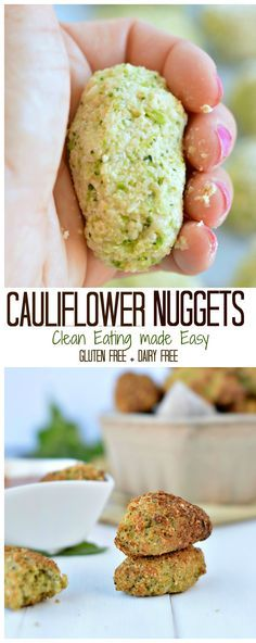 Those Baked cauliflower nuggets take 10 minutes to prepare, 20 minutes to bake and are super heathy as finger food dinner, appetizers or for kids lunchbox. It is moist and crispy! Dairy free and low carb with a gluten free and paleo recipe option. #paleo