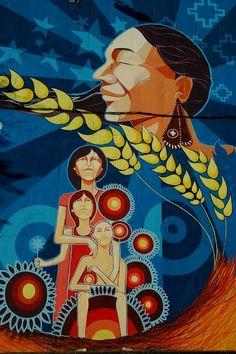 Chile street art Stencil Graffiti, Graffiti Artwork, Urban Graffiti, Street Art Graffiti, Street Installation, Beautiful Streets, Yarn Bombing, Banksy, Street Art