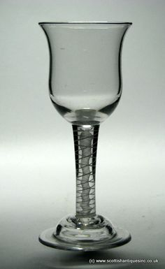 Georgian Opaque Twist Wine glass c1760