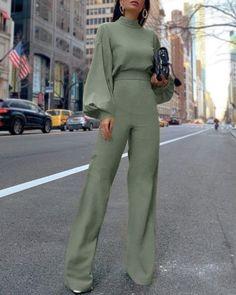 Classy palazzo pants street style
