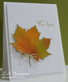 Stamping with Loll: More Autumn Maple Leaves