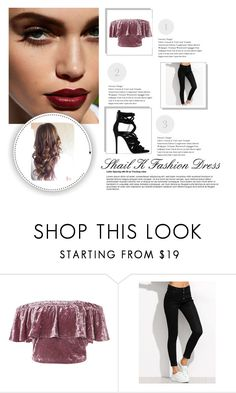 """Velvety #2"" by cclevie ❤ liked on Polyvore featuring Sans Souci and Giuseppe Zanotti"
