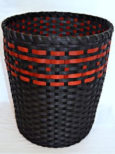 Handwoven Double Walled Reed Wastebasket  by BrightExpectations
