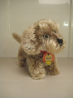 Steiff Vintage Raudi Wire Hair Mohair Dachshund ~ Born between 1965 and 1972 ~ 6 Inches Tall