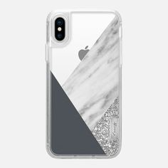 Casetify iPhone X Classic Grip Case - Blue and Marble Collage by Emanuela Carratoni