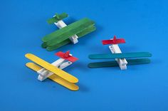 Clothespin Airplanes for Preschoolers - Crafts by Amanda