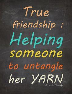True friendship...
