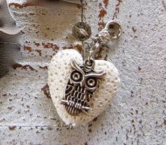 Charm heart of lava with owl by Charmecharming 5,00 €