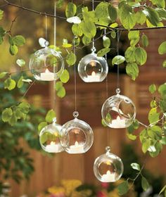Hanging bubble light candles