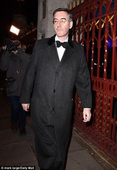 Big money donors were able to buy dinner with Environment Secretary Michael Gove for a mere - while a night out with Scottish Tory leader Ruth Davidson was rated even higher at Men's Fashion, Mens Fashion Online, Fashion Night, White Tee Shirts, White Tees, Jacob Rees Mogg, Find Friends, Jacket Style, Night Out