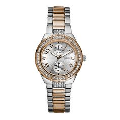 2656a4e82235 Guess Ladies  Mini Prism Silver   Rose Gold Bracelet Watch - Product number  9126457