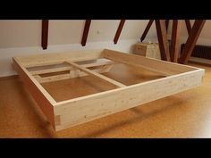 DIY Massivholz-Bett selber bauen - YouTube