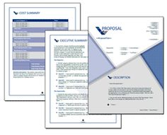 Proposal Pack Business #19 - Editable and customizable templates in this design theme with a library of sample proposals and Wizard software to get you started right away writing any kind of proposal, quote, report or other business document. Hundreds of other designs also available only from ProposalKit.com (come over, learn more and Like our Facebook page to get a 20% discount)
