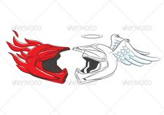 Devil and Angel Helmet
