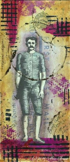 Mail art by Miss Iowa. Click to view original