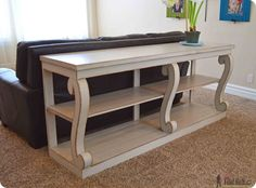 DIY Furniture | Build a $1,895 scroll leg console table from Restoration Hardware for only $95 with these project plans!