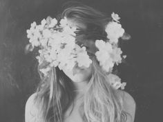 $UAVE, Girl with Flowers, Vintage Photography