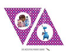 Printable DOC MCSTUFFINS Happy Birthday Banner  by PinkPeaPaperie