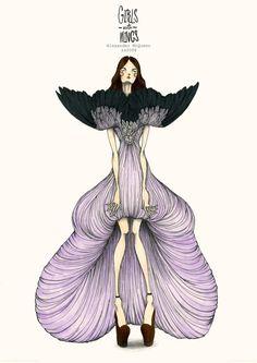 Jompak Raktrirong....'Girls with wings' for Alexander McQueens s/s2008