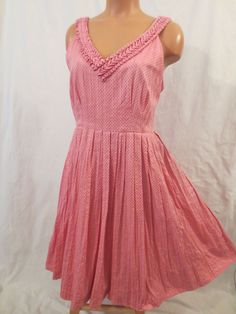 06355ba95cdce MELON BALL DRESS Moulinette Soeurs - $29.99 at JOHNNY BOMBSHELL #retro # Anthropologie #polkadot #pink