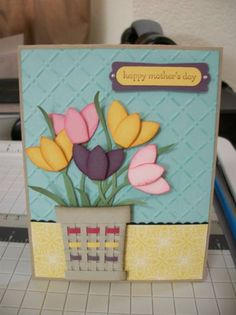 Tulip Basket for Mom by aimee57 - Cards and Paper Crafts at Splitcoaststampers