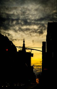 Dawn near the Chelsea Hotel. 23rd Street, New York City.