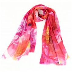 Peonies Scarf ($98) ❤ liked on Polyvore featuring accessories, scarves and wrap shawl