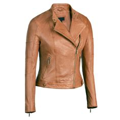 Cognac Womens Asymmetrical Leather Jacket Scuba Collar Lambskin XXLarge Cognac * For more information, visit image link. (This is an affiliate link) Designer Leather Jackets, Faux Leather Jackets, Penny Lane, Jackets For Women, Clothes For Women, Spring Jackets, Lambskin Leather, Fashion Wear, Jacket Style