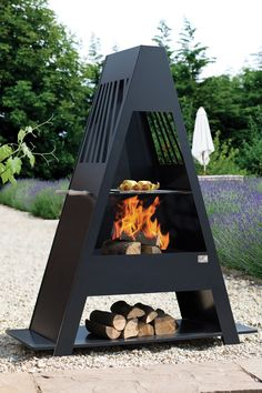This large family sized chimenea is ideal for entertaining. Not only can this be used as a garden and patio heater but it comes complete with BBQ grill too to cook for your guests whilst keeping warm!The chimenea has a stunning cut out design which becomes even more impressive at night when the orange hue of the fire glows through. This chimenea is made of steel which will rust eventually, this will not affect the use of the chimenea and can be re-painted. We recommend covering when not in…
