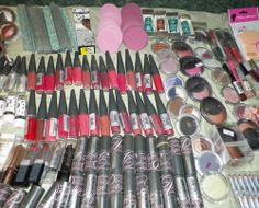 35 assorted wholesale makeup lot eyes lips face nails all skin name brands new