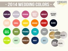 2014 wedding colors - new colors for wedding photo props and decor at Z Create Design